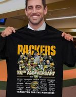 Green bay packers 102nd anniversary coach members signed for fan