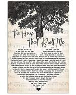 Miranda lambert the house that built me heart lyrics typography for fan poster