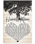Neil young harvest moon heart lyrics typography for fan poster