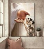 Schnauzer god hand for lovers poster