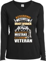Assuming i was like most women was your first mistake us woman veteran sweater