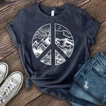 Peace sun mountain cloud forest for lovers shirt