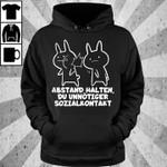 Baka abstand halten du unnotiger sozialkontakt hoodie