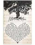 Kenny Chesney me and you heart lyrics typography for fan poster