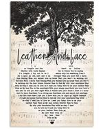 Don Henley stevie nicks leather and lace heart lyrics typography for fan poster