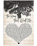 Miranda lambert the home that built me heart lyrics typography for fan poster