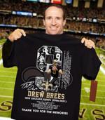 Drew brees new orleans saints legend achievements signed for fan