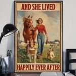 Farm girl and she lived happily ever after poster
