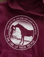 Some people are just born with horses in their blood i am one of these people hoodie