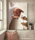 American Staffordshire Terrier take jesus hand god lovers poster