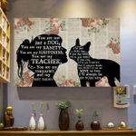 Boston terrier you are just a dog you are my sanity happiness teacher therapist my best friend poster