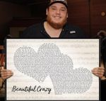 Beautiful crazy luke combs lyric poster canvas