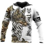 The wolf camou 3d printed hoodie