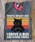 That's what i do i drive a bus and i know things tshirt