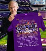 Minnesota vikings 60th anniversary team signatures for fans