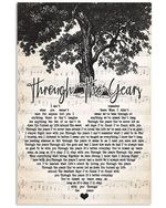 Through the years kenny rodgers lyric poster canvas