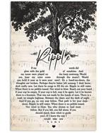 Grateful dead ripple lyrics heart typography for fan poster