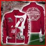 Alabama crimson tide national champions logo helmet 3d printed hoodie