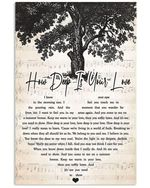 How deep is your love bee gees lyric poster canvas