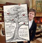 The beatles in my life lyrics old tree cardinals poster