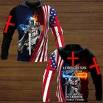 A christian man without prayer is like a warrior without a sword god 3d printed hoodie