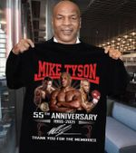 Mike tyson signatures 55th anniversary for fans