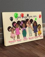 God says you are beautiful unique lovely special chosne strong poster canvas