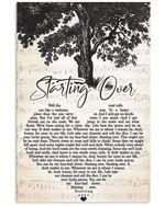 Chris stapleton starting over lyric poster canvas for fans