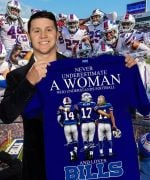 Never understimate woman who understands football and loves buffalo bills signatures for fans