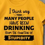 I think way too many people have been drinking from the fountain of stupidity tshirt