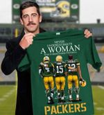 Never underestimate woman who understands football and loves green bay packers signatures