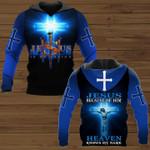 Jesus is my savior because of him heaven knows my name hoodie