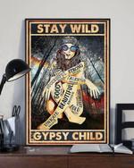 Hippie stay wild gypsy child poster canvas