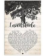 Landslide fleetwood mac lyric poster canvas for fans
