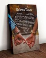 We're a team quote poster canvas