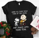 When all else fails turn up the music and dance with your dog snoopy