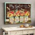 My god that is who you are way maker miracle worker promise keeper poster canvas