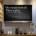 Occupational therapist defination poster canvas