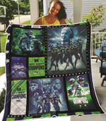 Green Bay Packers 4 Times Super Bowl Champions NFL American Football Team Logo Gift For Packers Fans Quilt