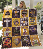 Los Angeles Lakers Today is a little bit of Lakers and a Whole of Jesus Lakers One Nation Under God gift for Lakers fans Quilt