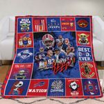 Buffalo Bills Nation Legends 2020 AFC Division Champions NFL American Football Team Logo Gift For Bills Fans Fleece Blanket
