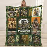 Green Bay Packers I Am A Packers Fan Win Or Lose NFL American Football Team Logo Gift For Packers Fans Fleece Blanket