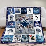 Dallas Cowboys Alltime Greats Tony Romo Dez Bryant Jason Witten Best Team Ever gift for Dallas Cowboys fans Fleece Blanket