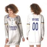 Real Madrid Football Club Home Jersey Style 3D Allover Custom Name Number Gift For Real Madrid Fans Lace-up Sweatshirt