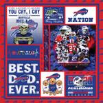 Buffalo Bills Merry Christmas The Bills NFL American Football Team Logo Gift For Bills Fans Fleece Blanket