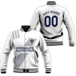 La Galaxy Football Club Home Colors 3D Allover Custom Name Number Gift For LA Galaxy Fans Baseball Jacket