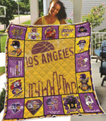 Los Angeles Lakers Damn Right I am A Lakers Fan Now and Forever Dilly Dilly Lakers Professional Basketball Team gift for Lakers fans Quilt