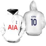 Tottenham Hotspur Harry Kane 10 Football Club Home Jersey Style 3D Allover Gift For Tottenham Hotspur Fans Hoodie