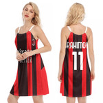 AC Milan Zlatan Ibrahimovic 11 Home Jersey Style 3D Allover Gift For AC Milan Fans O-neck Dress