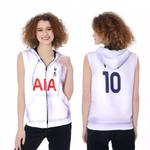 Tottenham Hotspur Harry Kane 10 Football Club Home Jersey Style 3D Allover Gift For Tottenham Hotspur Fans Zip Sleeveless Hoodie